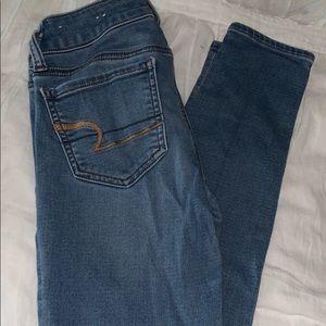american eagle skinny jeans, jegging, size 00